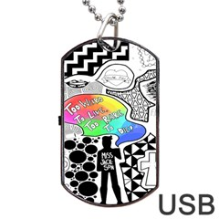 Panic ! At The Disco Dog Tag Usb Flash (one Side) by Onesevenart