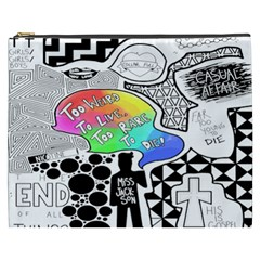 Panic ! At The Disco Cosmetic Bag (xxxl)  by Onesevenart