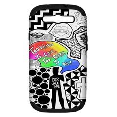 Panic ! At The Disco Samsung Galaxy S Iii Hardshell Case (pc+silicone) by Onesevenart