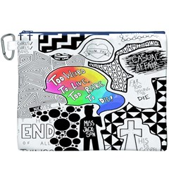 Panic ! At The Disco Canvas Cosmetic Bag (xxxl) by Onesevenart