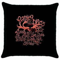 Panic At The Disco   Lying Is The Most Fun A Girl Have Without Taking Her Clothes Throw Pillow Case (black) by Onesevenart