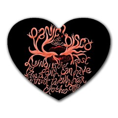 Panic At The Disco   Lying Is The Most Fun A Girl Have Without Taking Her Clothes Heart Mousepads by Onesevenart