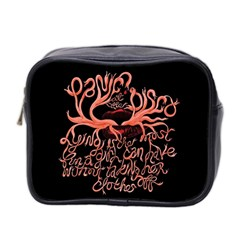 Panic At The Disco   Lying Is The Most Fun A Girl Have Without Taking Her Clothes Mini Toiletries Bag 2 Side by Onesevenart