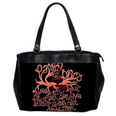 Panic At The Disco   Lying Is The Most Fun A Girl Have Without Taking Her Clothes Office Handbags (2 Sides)  by Onesevenart