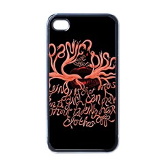 Panic At The Disco   Lying Is The Most Fun A Girl Have Without Taking Her Clothes Apple Iphone 4 Case (black) by Onesevenart