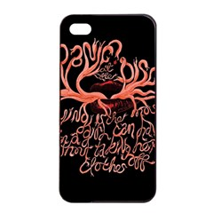 Panic At The Disco   Lying Is The Most Fun A Girl Have Without Taking Her Clothes Apple Iphone 4/4s Seamless Case (black) by Onesevenart