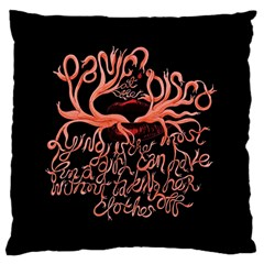Panic At The Disco   Lying Is The Most Fun A Girl Have Without Taking Her Clothes Large Cushion Case (one Side) by Onesevenart