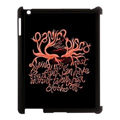 Panic At The Disco   Lying Is The Most Fun A Girl Have Without Taking Her Clothes Apple Ipad 3/4 Case (black) by Onesevenart