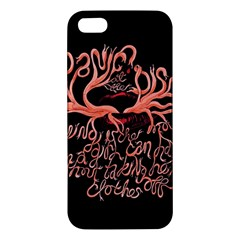 Panic At The Disco   Lying Is The Most Fun A Girl Have Without Taking Her Clothes Apple Iphone 5 Premium Hardshell Case by Onesevenart