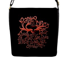 Panic At The Disco   Lying Is The Most Fun A Girl Have Without Taking Her Clothes Flap Messenger Bag (l)  by Onesevenart