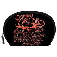 Panic At The Disco   Lying Is The Most Fun A Girl Have Without Taking Her Clothes Accessory Pouches (large)  by Onesevenart