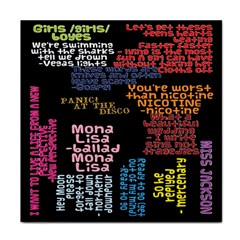 Panic At The Disco Northern Downpour Lyrics Metrolyrics Tile Coasters by Onesevenart