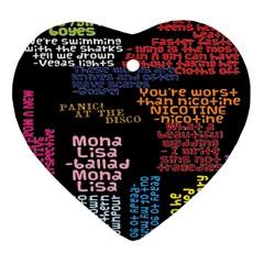 Panic At The Disco Northern Downpour Lyrics Metrolyrics Ornament (heart) by Onesevenart