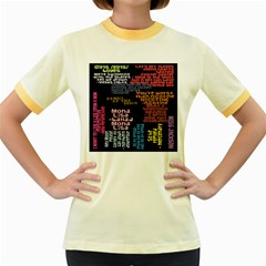 Panic At The Disco Northern Downpour Lyrics Metrolyrics Women s Fitted Ringer T Shirts by Onesevenart