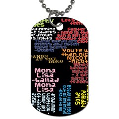 Panic At The Disco Northern Downpour Lyrics Metrolyrics Dog Tag (one Side) by Onesevenart