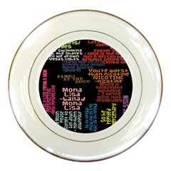 Panic At The Disco Northern Downpour Lyrics Metrolyrics Porcelain Plates by Onesevenart