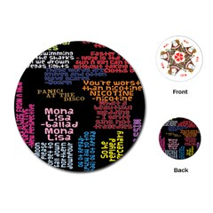 Panic At The Disco Northern Downpour Lyrics Metrolyrics Playing Cards (round)  by Onesevenart