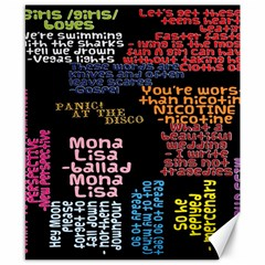 Panic At The Disco Northern Downpour Lyrics Metrolyrics Canvas 8  X 10  by Onesevenart