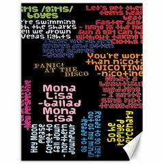 Panic At The Disco Northern Downpour Lyrics Metrolyrics Canvas 12  X 16   by Onesevenart