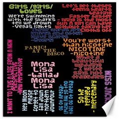 Panic At The Disco Northern Downpour Lyrics Metrolyrics Canvas 20  X 20   by Onesevenart
