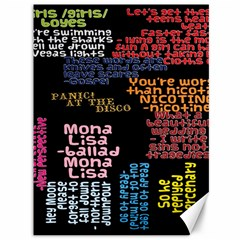 Panic At The Disco Northern Downpour Lyrics Metrolyrics Canvas 36  X 48   by Onesevenart
