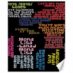 Panic At The Disco Northern Downpour Lyrics Metrolyrics Canvas 11  X 14   by Onesevenart