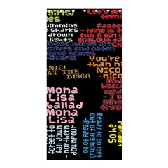 Panic At The Disco Northern Downpour Lyrics Metrolyrics Shower Curtain 36  X 72  (stall)  by Onesevenart
