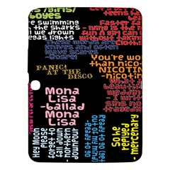 Panic At The Disco Northern Downpour Lyrics Metrolyrics Samsung Galaxy Tab 3 (10 1 ) P5200 Hardshell Case  by Onesevenart