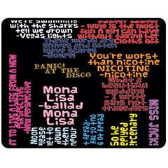 Panic At The Disco Northern Downpour Lyrics Metrolyrics Double Sided Fleece Blanket (medium)  by Onesevenart