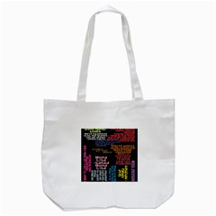 Panic At The Disco Northern Downpour Lyrics Metrolyrics Tote Bag (white) by Onesevenart