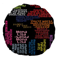 Panic At The Disco Northern Downpour Lyrics Metrolyrics Large 18  Premium Flano Round Cushions by Onesevenart