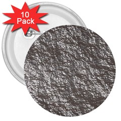 Crumpled Foil 17b 3  Buttons (10 Pack)  by MoreColorsinLife