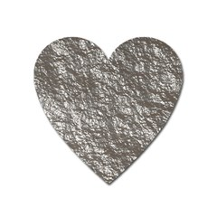 Crumpled Foil 17b Heart Magnet by MoreColorsinLife
