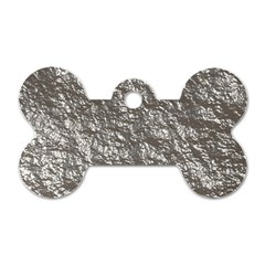 Crumpled Foil 17b Dog Tag Bone (one Side) by MoreColorsinLife