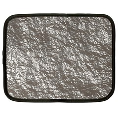Crumpled Foil 17b Netbook Case (large) by MoreColorsinLife