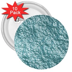 Crumpled Foil 17e 3  Buttons (10 Pack)  by MoreColorsinLife