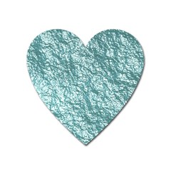Crumpled Foil 17e Heart Magnet by MoreColorsinLife
