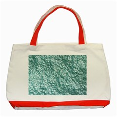 Crumpled Foil 17e Classic Tote Bag (red) by MoreColorsinLife