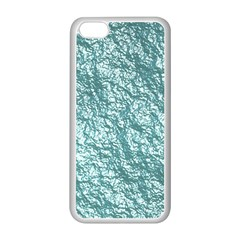 Crumpled Foil 17e Apple Iphone 5c Seamless Case (white) by MoreColorsinLife
