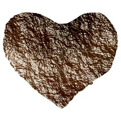 Crumpled Foil 17a Large 19  Premium Heart Shape Cushions by MoreColorsinLife