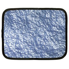 Crumpled Foil 17d Netbook Case (large) by MoreColorsinLife