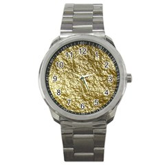 Crumpled Foil 17c Sport Metal Watch by MoreColorsinLife