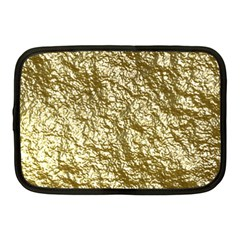Crumpled Foil 17c Netbook Case (medium)  by MoreColorsinLife