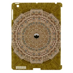 Golden Forest Silver Tree In Wood Mandala Apple Ipad 3/4 Hardshell Case (compatible With Smart Cover) by pepitasart