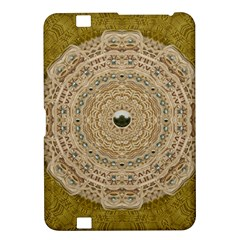 Golden Forest Silver Tree In Wood Mandala Kindle Fire Hd 8 9  by pepitasart