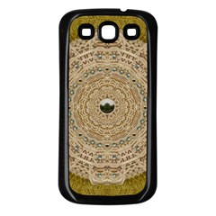Golden Forest Silver Tree In Wood Mandala Samsung Galaxy S3 Back Case (black) by pepitasart