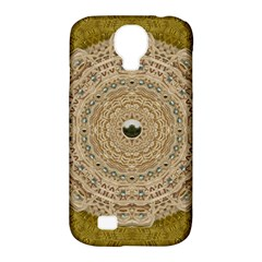 Golden Forest Silver Tree In Wood Mandala Samsung Galaxy S4 Classic Hardshell Case (pc+silicone) by pepitasart