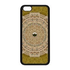 Golden Forest Silver Tree In Wood Mandala Apple Iphone 5c Seamless Case (black) by pepitasart