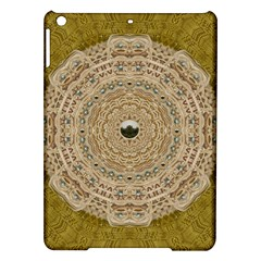 Golden Forest Silver Tree In Wood Mandala Ipad Air Hardshell Cases by pepitasart