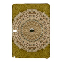 Golden Forest Silver Tree In Wood Mandala Samsung Galaxy Tab Pro 10 1 Hardshell Case by pepitasart
